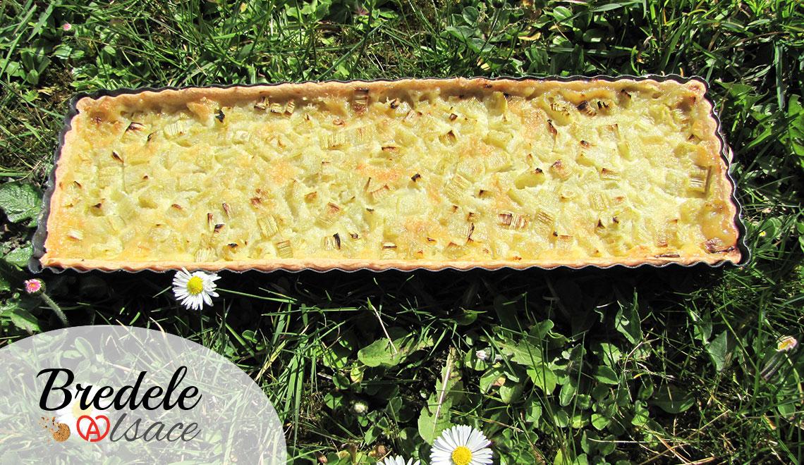 Suggestion de présentation de la tarte à la Rhubarbe