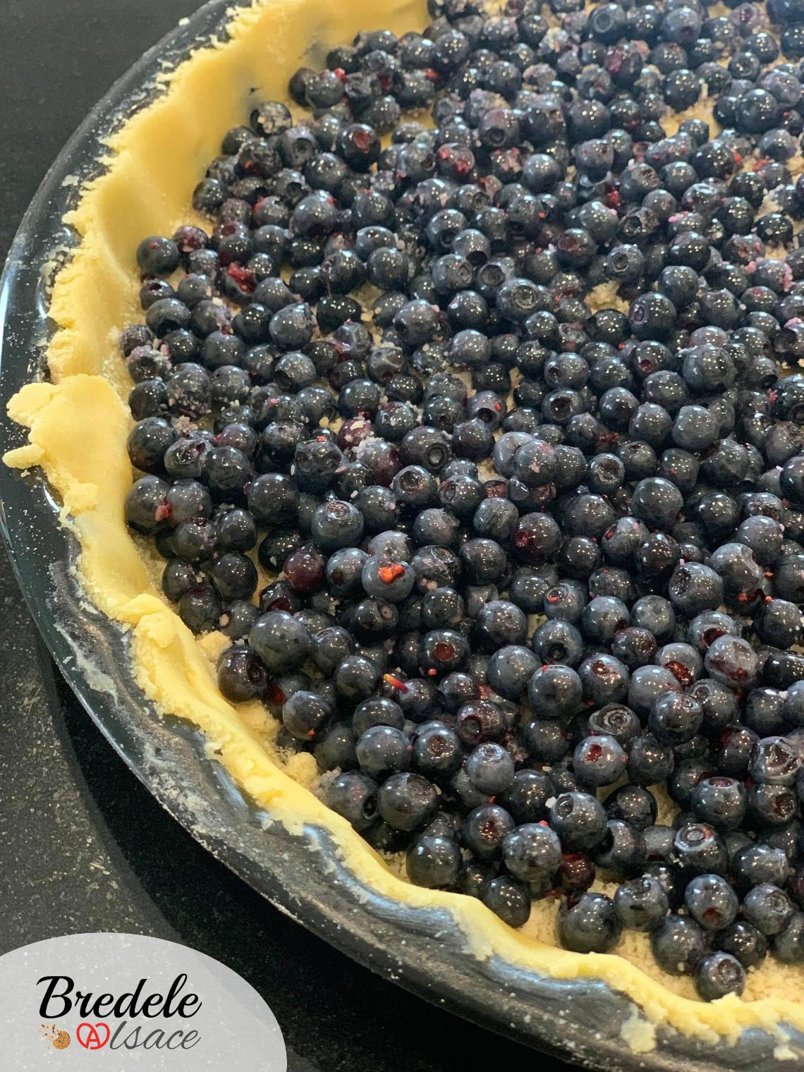 tarte aux myrtilles alsace
